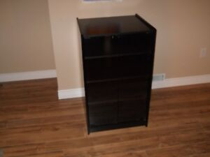 Audio video stand with glass doors