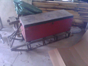 Old snowmobile trailer sled