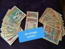40 x Vintage comics 1978+ Whizzer Chip Beezer Whoopee collectors