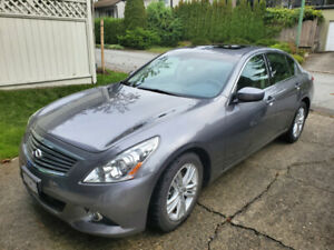 2012 Infiniti G37x - navigation, Bose, AWD, no accident