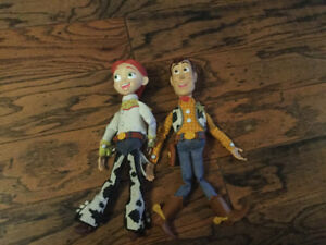 Disney Pull String Woody and Jessie Dolls