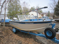 16' Aluminum Bowrider with 115HP Johnson and trailer