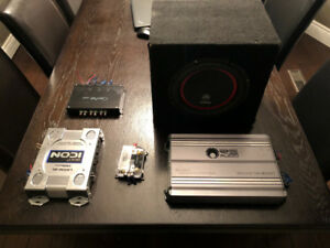 Car Audio Stereo Amplifier Boom Box Sub $200 package