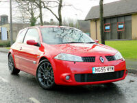 2005 55 Renault Megane 2.0 T Renaultsport Cup 3dr WITH FSH+CUP MODEL+AUX+CRUISE+