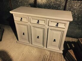Handcrafted Rustic Solid Pine Sideboard