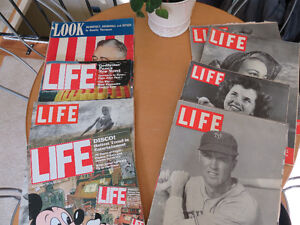 7 Life magazines and 1 Look