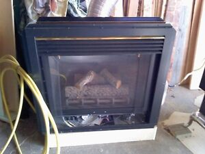 """36"""" gas fireplace - like new condition"""