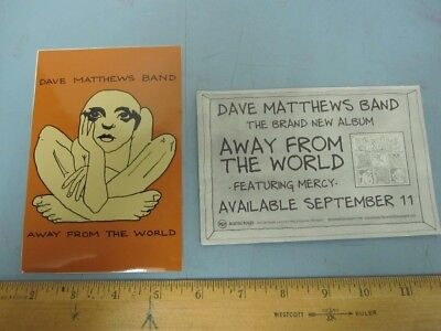 DAVE MATTHEWS BAND 2012 away from world promotional sticker Mint New Old Stock