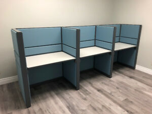 "Teknion workstations for Sale 3'x2'x51""H $350 each. Set of two"