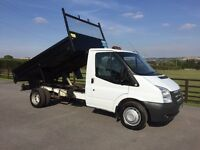 Ford transit 100 t350 mwb tipper, 2012 (12) reg, 1 co owner, fsh, 60th miles, in white
