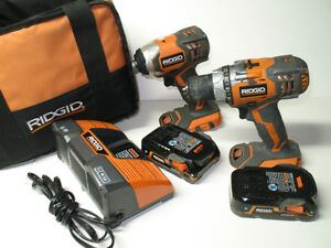 RIGID 18 V DRILL / IMPACT  DRIVER SET