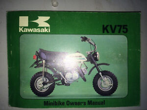 1979 Kawasaki KV75 Owners Manual
