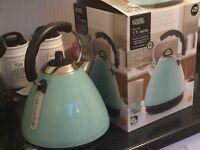 Pale blue kettle