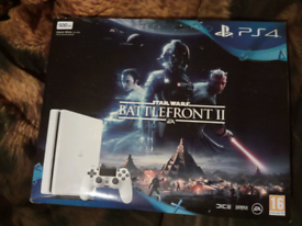 PS4 Slim Glacier White 500gb console Boxed (game not included)