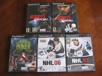 5 PS2 VIDEO GAMES
