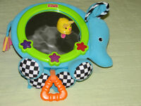 FISHER PRICE ELEPHANT & MOUSE MUSICAL MIRROR $5