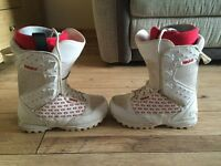 Thirty two snowboard boots size 5 and helmet