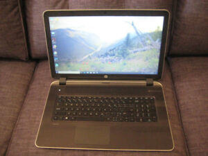 "17.3"" HP Laptop, AMD A10 Quad Core, 240 GB SSD, 12 GB RAM, DVD"