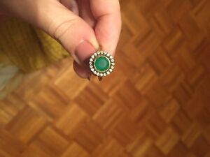 Stella & Dot emerald green and gold ring  Windsor Region Ontario image 1