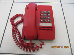Classic Northern Telecom Red Wall/Surface Mount Phone Circa 1983