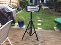BRAND NEW - UNUSED Electric Garden Heater, tripod stand and tripod cover