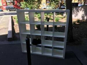 White, sturdy and heavy bookshelving Ultimo Inner Sydney Preview
