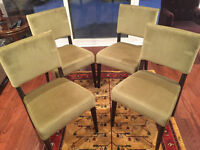 Four IKEA Upholstered Dining Room Chairs