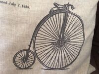Pair of bicycle scatter cushions