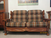 Love Seat, Arm Chair and Foot Stool