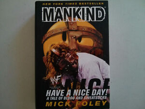 WWE WWF book Mankind Have a Nice Day $5