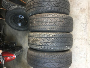 Qty-4  215/60r15 m&s tires for sale
