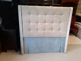 🤩🤩Brand New Beige Fabric Double Floor Standing Headboard 🤩🤩