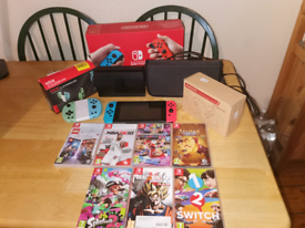 Huge Nintendo switch bundle with 5 games