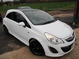 2011 VAUXHALL CORSA LIMITED EDITION BLACK WHEELS AND ROOF HATCHBACK PETROL