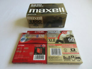 Maxell XL II 60 -- High Bias Audio Cassettes -- Lot of 9 -- NEW