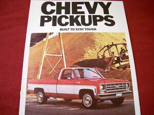 1977 Chevrolet Pickups sales brochure