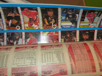 1989-90 OPchee Hockey Cards-Uncut Sheets-330 Cards