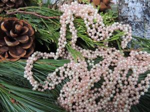 Pink & Ivory pearl garland (2 strands @ 8.33 feet long each)