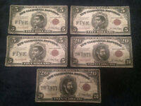 Fallout New Vegas NCR Dollars Paper Money - 20's and 5's