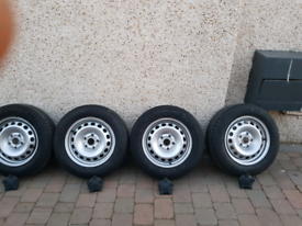 VW Caddy or Any VW 15: wheels with 4 tyres almost brand new 2 x Michil