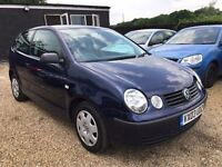 VW POLO 1.2S 3DR 2003 IDEAL FIRST CAR CHEAP INSURANCE UNBELIEVABLE SERVICE HISTORY