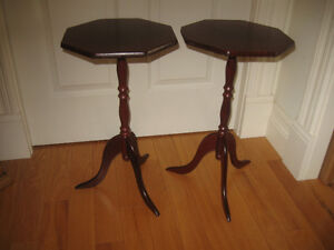 PAIR of CLASSIC OCTAGONAL END TABLES...