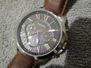 MENS FOSSIL CHRONOGRAPH BROWN LEATHER WATCH