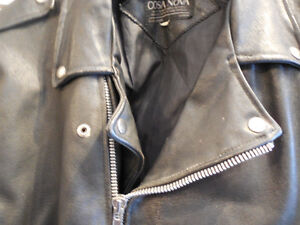 Old school black leather jacket @recycledgear.ca Kawartha Lakes Peterborough Area image 5