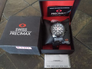 NEW Swiss Precimax Men's Legion Pro SP13262 Swiss Chrono Watch
