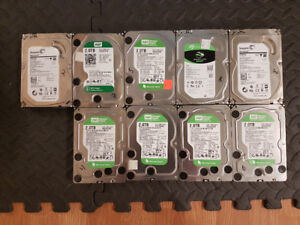 9 2TB Hard Drives + Dell Perc 5 Raid Card