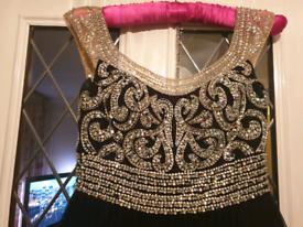 Magnificent Black & Silver Prom Dress