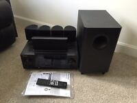 Pioneer HTP-071 5.1 AV receiver with speakers and sub