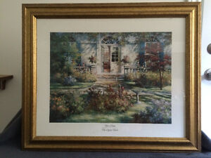 "Collectible Antique ""The Open Door"" Framed Print By Tan Chun London Ontario image 6"