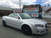 AUDI A4 CONVERTIBLE 1.8 T 2006/56 S LINE *LPG *HEADREST SCREENS *REV-CAMERA *DVD